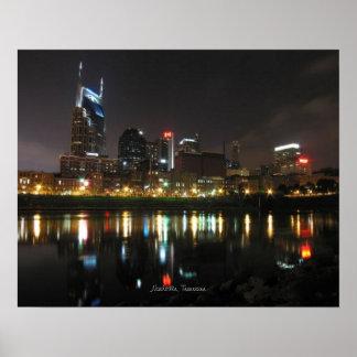 Nashville at Night Poster