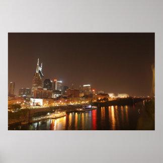Nashville at Night Print