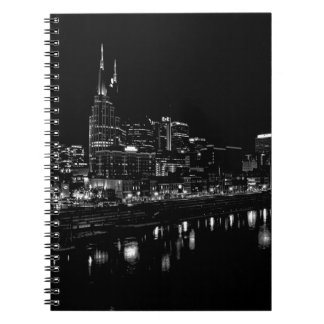 Nashville At Night Spiral Notebook