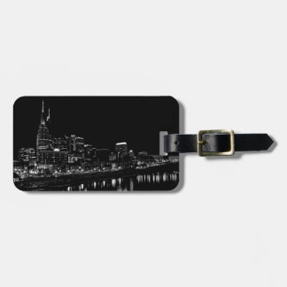 Nashville At Night Tag For Luggage