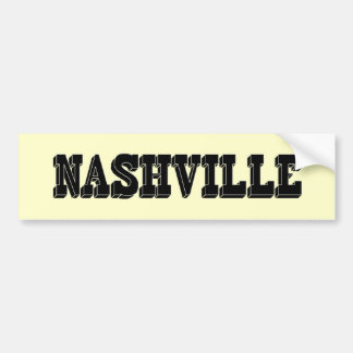 Nashville Black Block Car Bumper Sticker