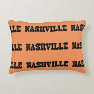Nashville Black Block Accent Pillow