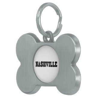 Nashville Black Block Pet Name Tag