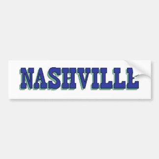 Nashville Blue Block Car Bumper Sticker