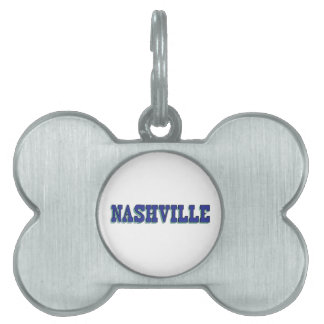 Nashville Blue Block Pet Tag