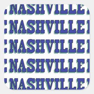 Nashville Blue Block Square Sticker
