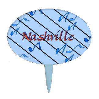 Nashville Blue Notes Cake Topper