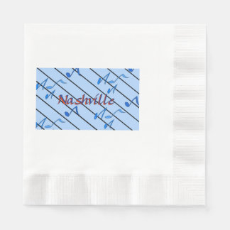 Nashville Blue Notes Coined Luncheon Napkin