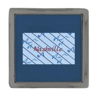 Nashville Blue Notes Gunmetal Finish Lapel Pin