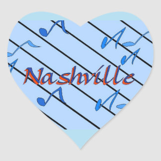 Nashville Blue Notes Heart Sticker