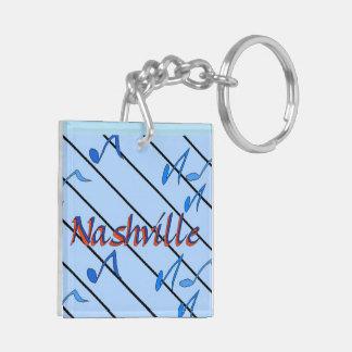 Nashville Blue Notes Double-Sided Square Acrylic Keychain