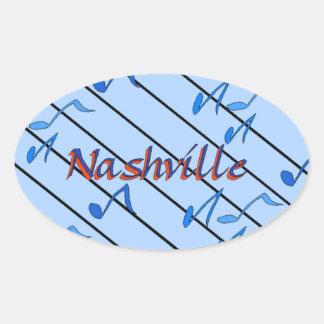 Nashville Blue Notes Oval Sticker