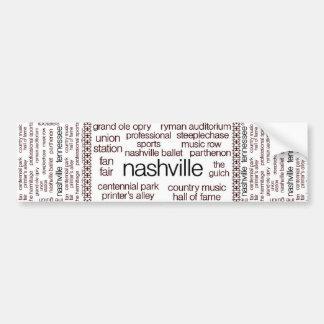 Nashville Brown Car Bumper Sticker