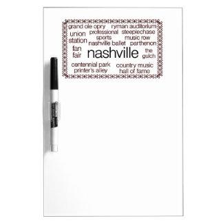 Nashville Brown Dry-Erase Board