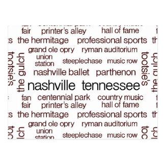 Nashville Brown Tarjeta Postal