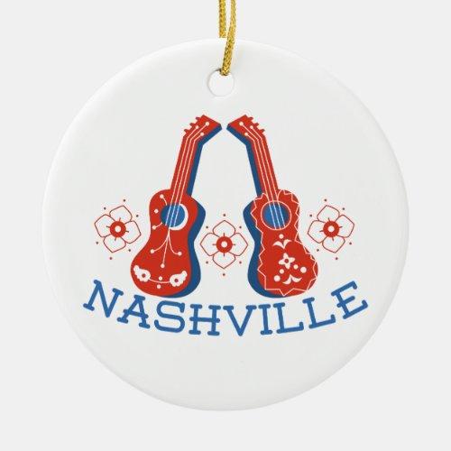 Nashville Ceramic Ornament
