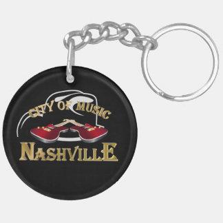 Nashville. City of music Double-Sided Round Acrylic Keychain