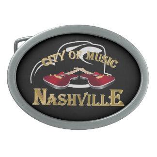 Nashville. City of music Oval Belt Buckle