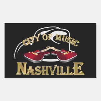 Nashville. City of music Rectangular Sticker