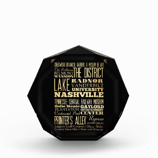 Nashville City of Tennessee State Typography Art Award