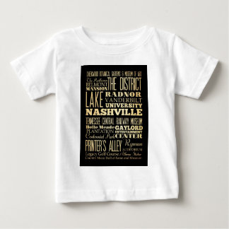 Nashville City of Tennessee State Typography Art Baby T-Shirt