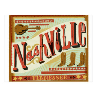 Nashville, Country Theme Postcard