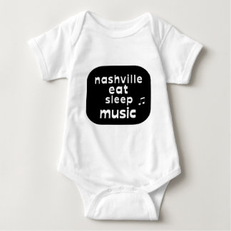 Nashville Eat Sleep Music Baby Bodysuit