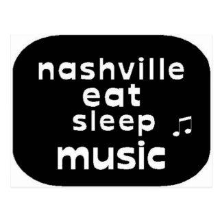 Nashville Eat Sleep Music Post Card