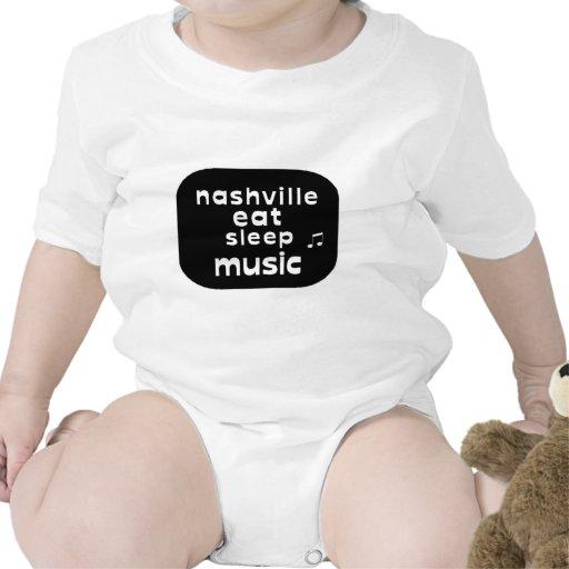 Nashville Eat Sleep Music Bodysuits