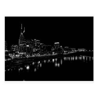 Nashville en la noche postal