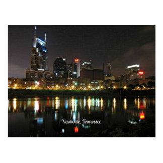 Nashville en la noche tarjeta postal