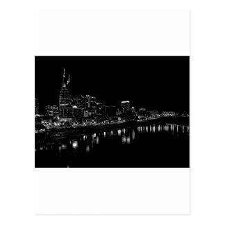 Nashville en la noche tarjetas postales
