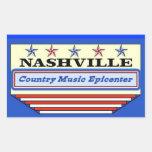 Nashville Epicenter Rectangle Sticker
