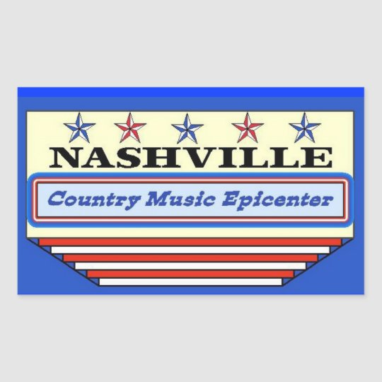 Nashville Epicenter Rectangular Sticker