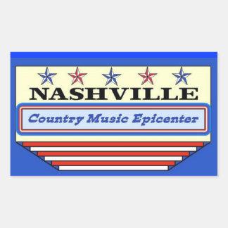 Nashville Epicenter Rectangular Sticker