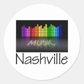 Nashville Equalizer Classic Round Sticker