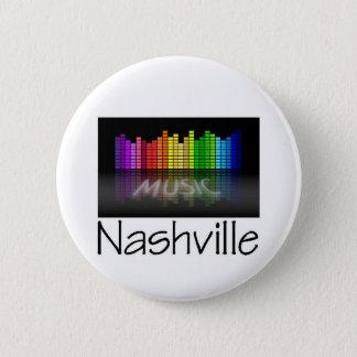 Nashville Equalizer Pinback Button