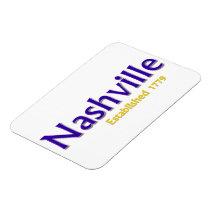 "Nashville Established 3""x4"" Flexible Photo Magnet"