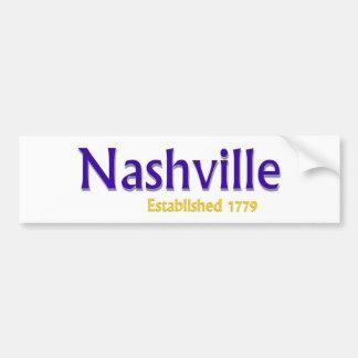 Nashville Established Vehicle Bumper Sticker