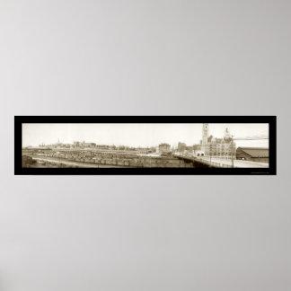 Nashville, foto 1905 del ferrocarril del TN Póster