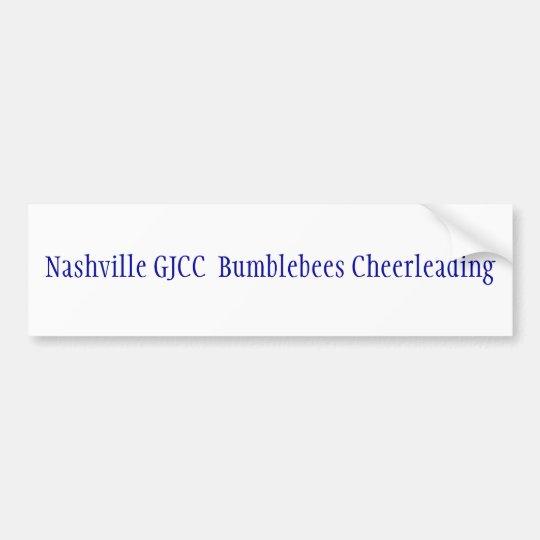 Nashville GJCC  Bumblebees Cheerleading Bumper Sticker