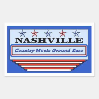 Nashville Ground Zero Rectangular Sticker