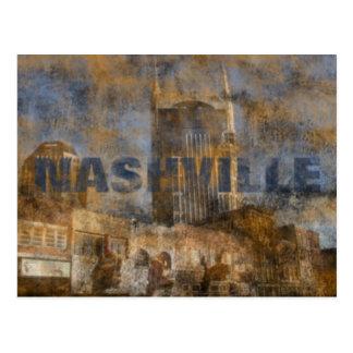 Nashville Grunge Postcard