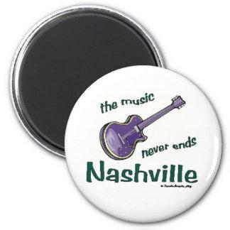 Nashville Guitar 2 Inch Round Magnet
