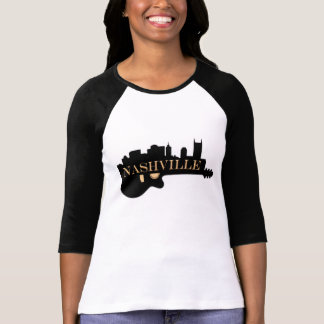 Nashville Guitar 3/4 Sleeve Raglan T-Shirt