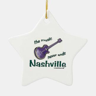 Nashville Guitar Ceramic Ornament