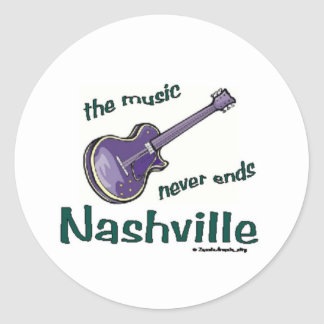 Nashville Guitar Classic Round Sticker