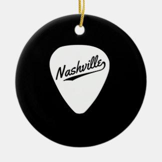 Nashville Guitar Pick Ceramic Ornament