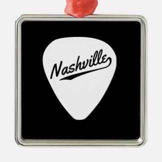 Nashville Guitar Pick Metal Ornament