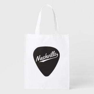 Nashville Guitar Pick Reusable Grocery Bags
